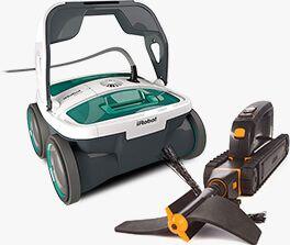 iRobot Looj Gutter Cleaning Robot and iRobot Mirra Pool Cleaning Robot