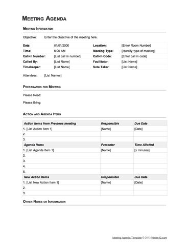 Best 25+ Meeting agenda template ideas on Pinterest Effective - example of agenda for a meeting