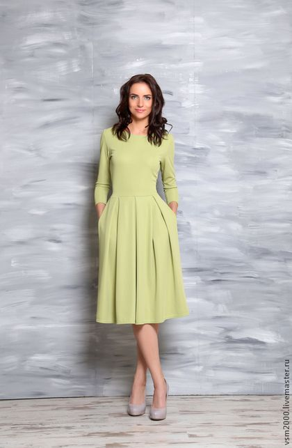 Платья ручной работы. Ярмарка Мастеров - ручная работа. Купить Платье Элизабет фисташковое. Handmade. Мятный, платье на каждый день