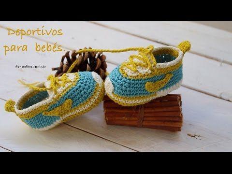 Aprende a tejer estos deportivos de bebé paso a paso I PARTE 1/2 (ENGLISH SUB ) cucaditasdesaluta - YouTube
