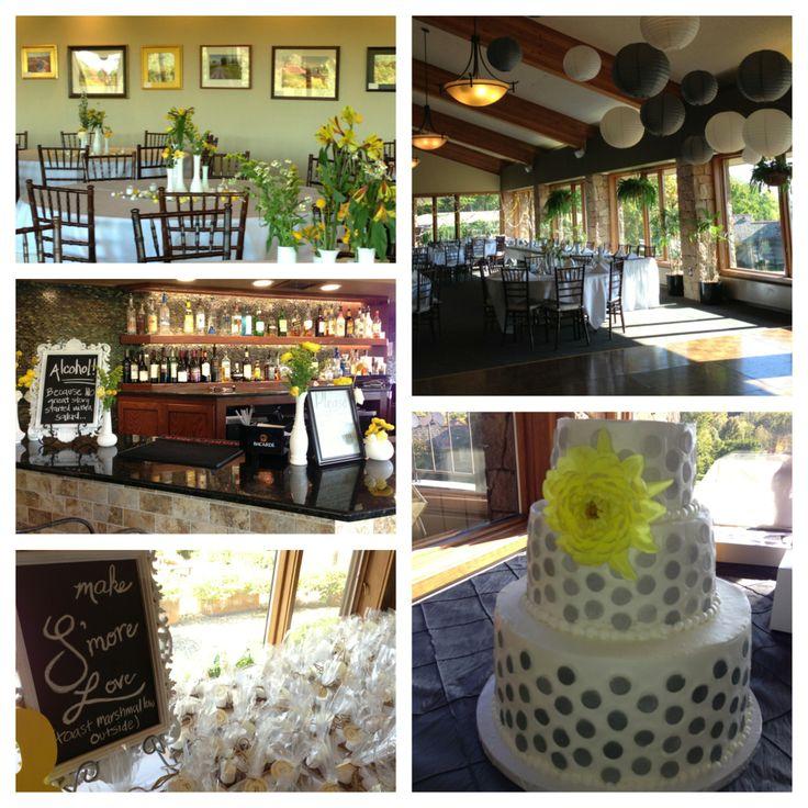 Alvamar Country Club, Lawrence, KS wedding reception, yellow and ...