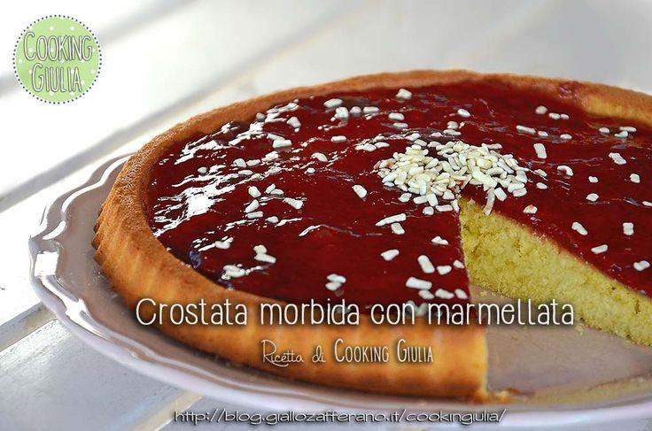Crostata morbida con marmellata di fragole