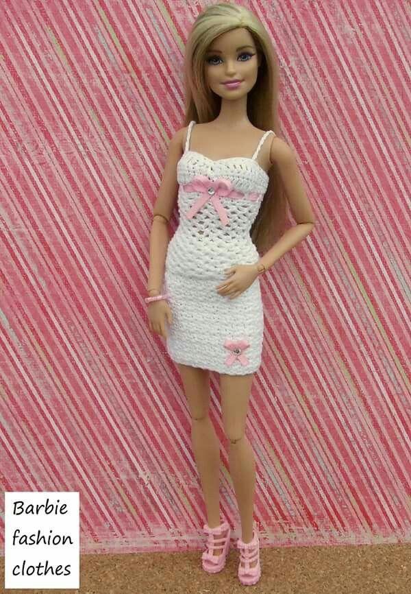 135 besten barbie kleidung bilder auf pinterest barbiekleidung h kelkleider und h kelpuppen. Black Bedroom Furniture Sets. Home Design Ideas