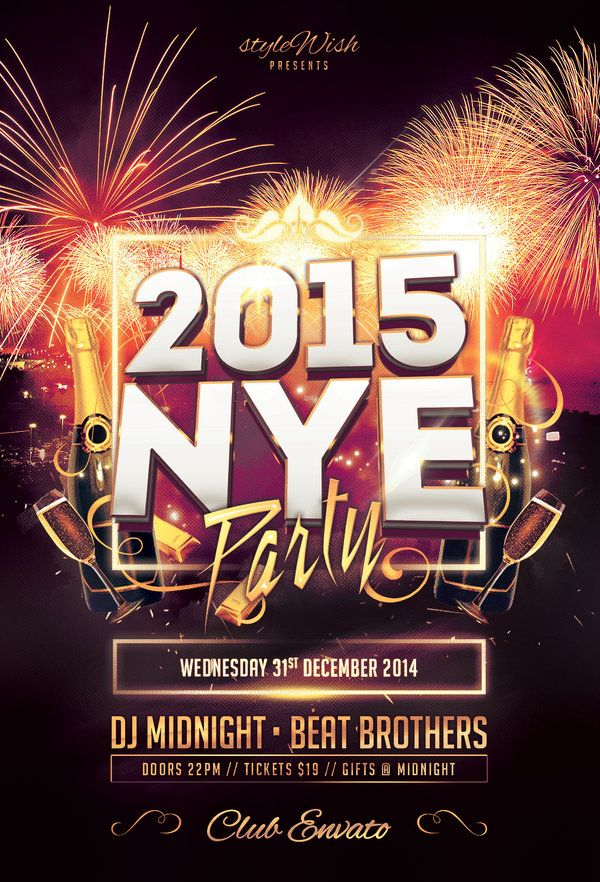 25 best New Year Flyer Templates images on Pinterest