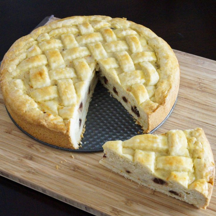 Ricotta Pie Is A Traditional Easter Dessert In Many Italian Households
