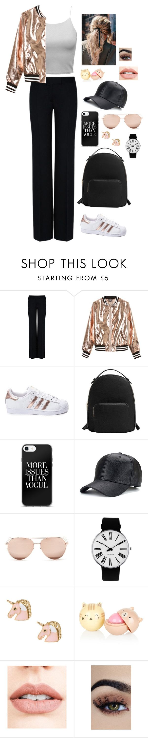 """""""Airport Chic"""" by fangirl-2001 ❤ liked on Polyvore featuring STELLA McCARTNEY, Sans Souci, adidas, MANGO, Linda Farrow, Rosendahl, Jouer, chic, airport and newyear"""