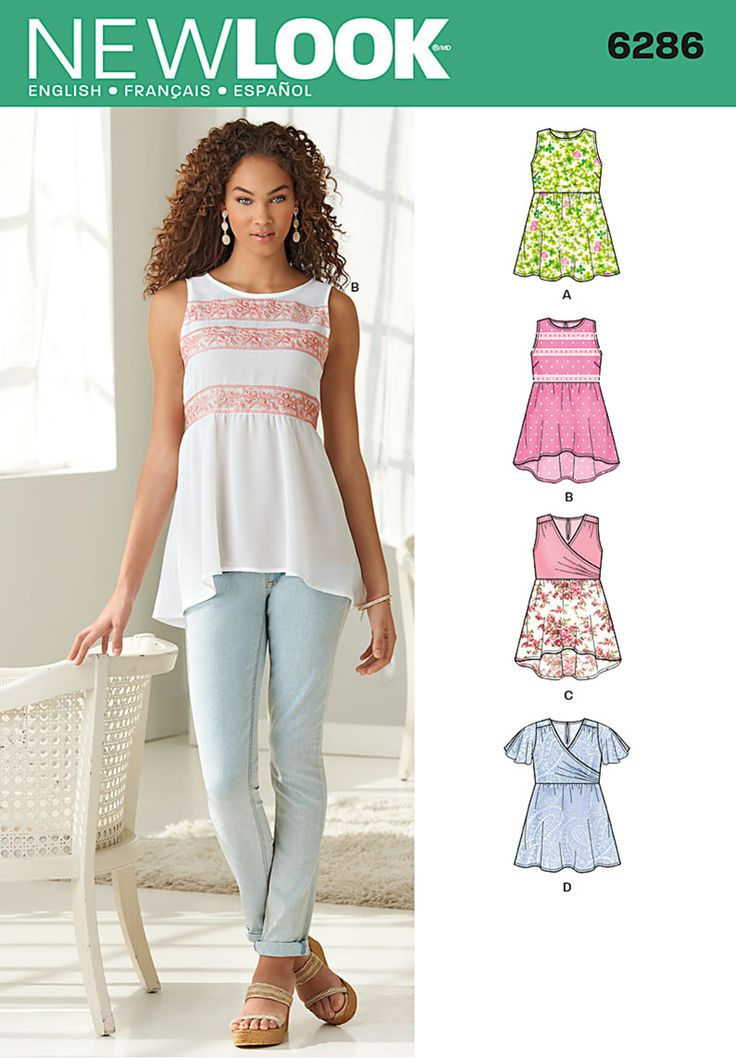 Pattern Reviews> New Look> 6286 (Misses' Pullover Tops with Hemline Variations)