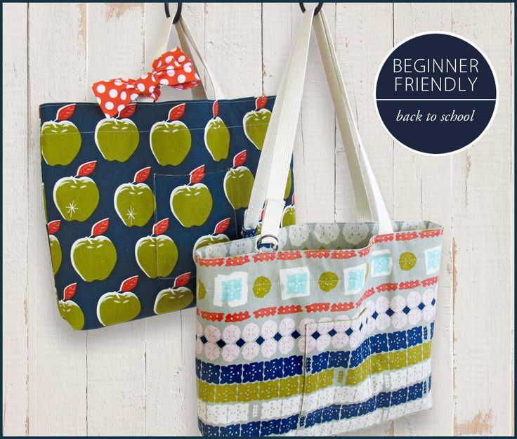 Beginner-Friendly Back-To-School Totes: Hawthorne Threads | Sew4Home