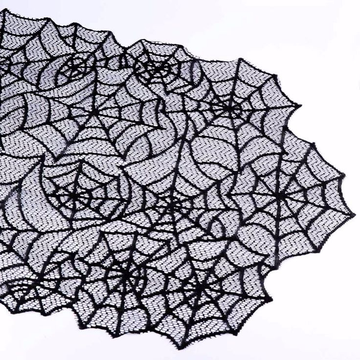Ourwarm 1pc 20X80inch Halloween Spider Web Table Runners Black Lace Tablecloth Halloween Table Decoration Event Party. Click visit to buy #TableRunner