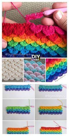 Ponto de lantejoulas de crochê - Free Pattern & Video