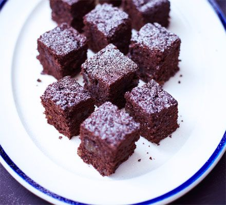 Mini chocolate & ginger brownies