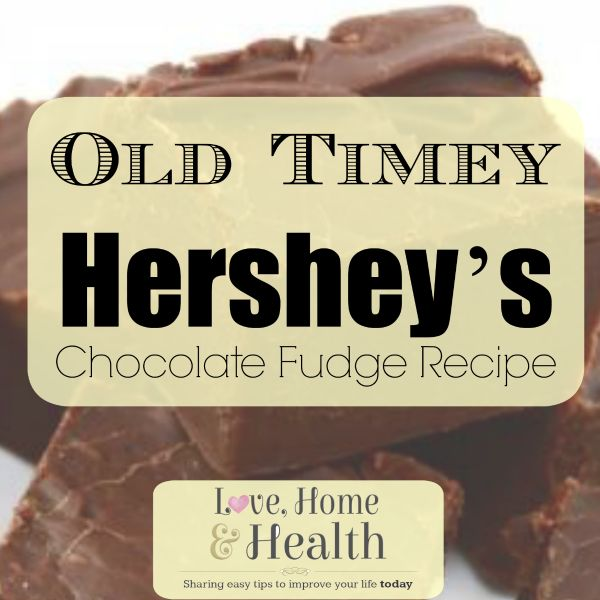 Chocolate Fudge Recipe at www.LoveHomeandHealth.com