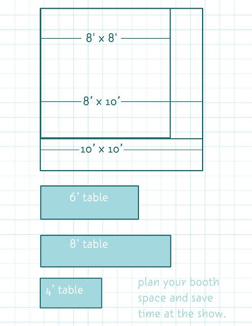 Craft Show Booth Space Floor Planner
