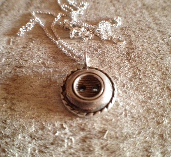 Cast Sterling Silver Button Necklace