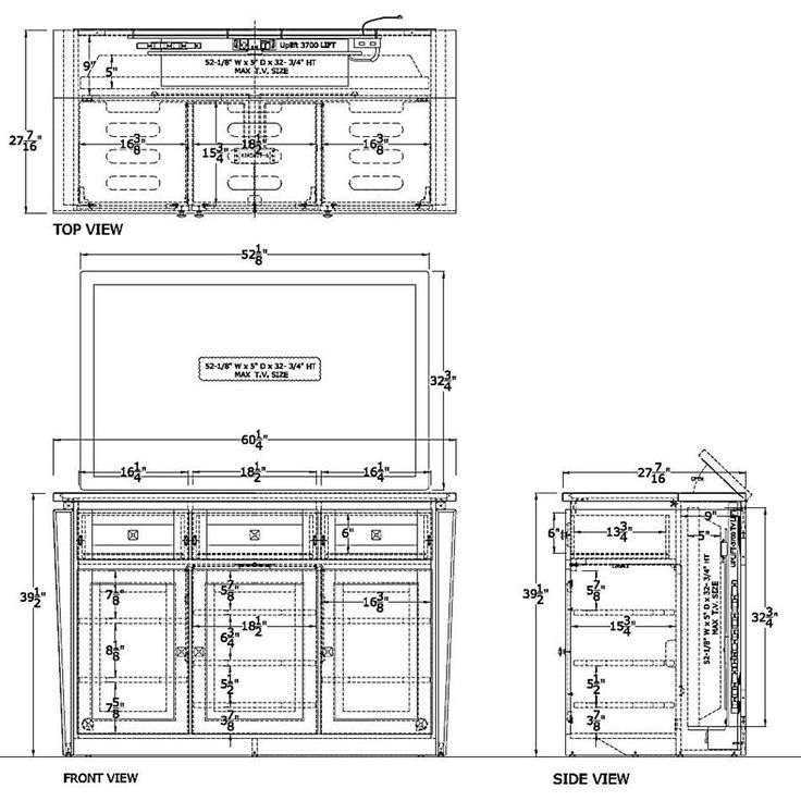 TV Lift Cabinet Dimensions | Tv lift cabinet, Cabinet ...