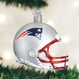 Old World Christmas New England NFL Football Helmet Glass Ornament direct from the ChristmasOrnamentStore.com
