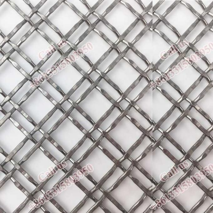 Stainless Steel Decorative Architectural Woven Mesh Facade Wire Mesh Wire Mesh Screen Expanded Metal Mesh
