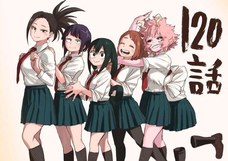 Boku no Hero Academia || Momo Yaoyorozu, Kyouka Jirou, Tsuyu Asui, Uraraka Ochako, Mina Ashido, Tooru Hagakure.