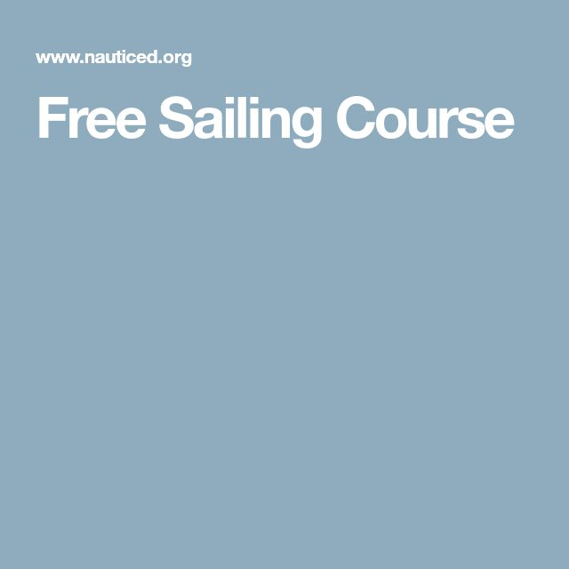 Free Sailing Course