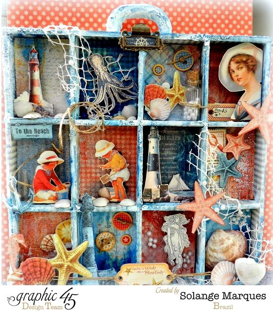 By the Sea configuration tray by the brilliant Solange #graphic45 #alteredart