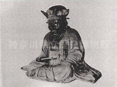 円応寺の木造閻魔王座像(震災後復興)