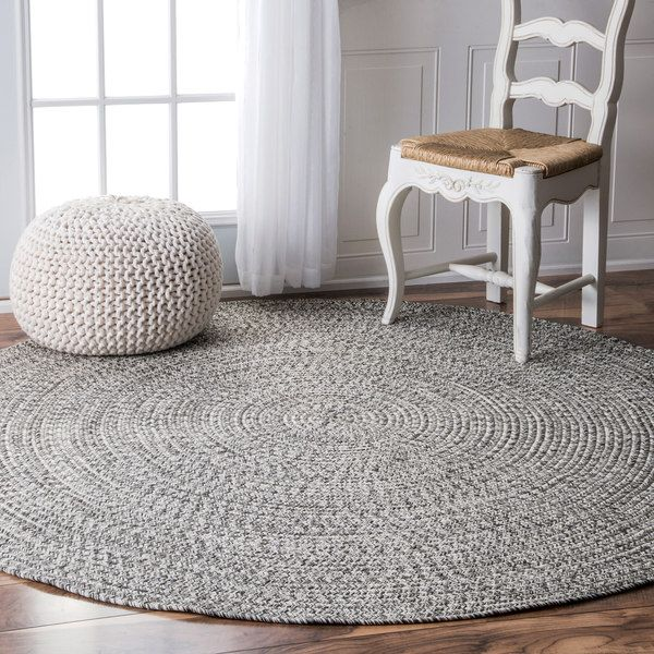 Nuloom Handmade Casual Solid Braided Round Rug 6