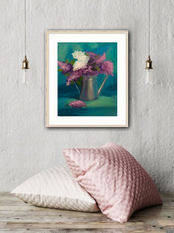 Lilac Art Print Flowers wall decor Original Art by MaritimArt