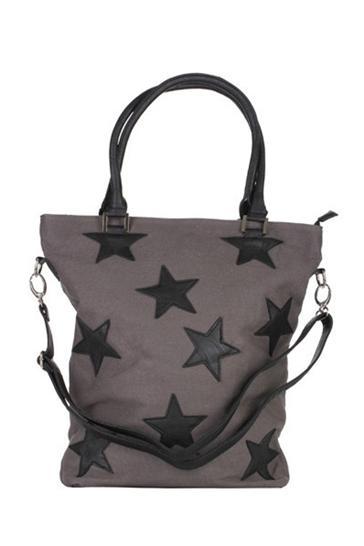 Amust: Grey canvas star bag