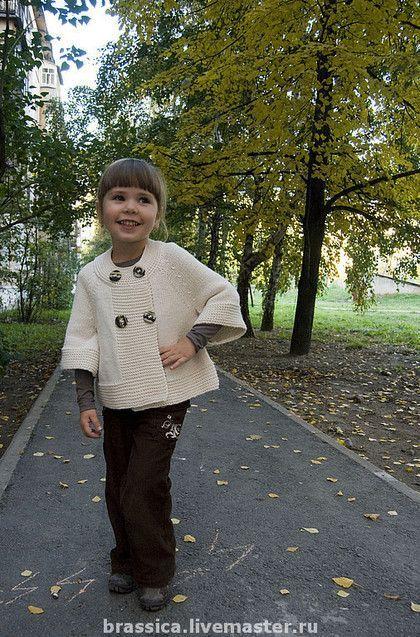 вязаная детская одежда, вязаная одежда для детей, жакет для девочки, жакет вязаный: