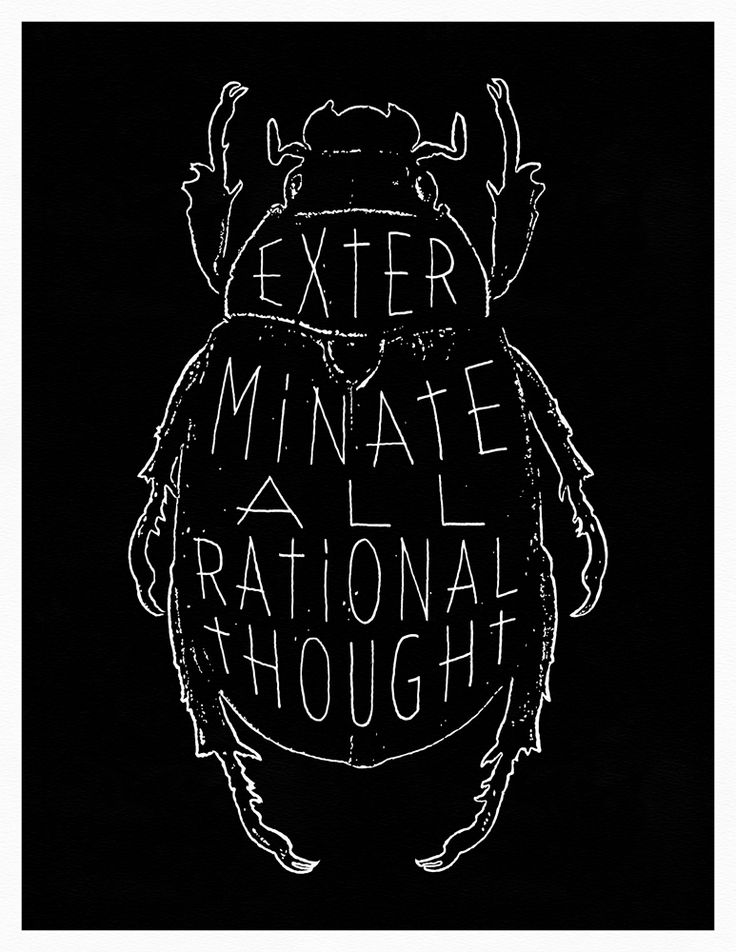 """""""EXTERMINATE ALL RATIONAL THOUGHT""""  - William S. Burroughs - Naked Lunch - David Cronenberg  17"""" x 22"""" Archival Pigment Print  Limited Edition of 25 Signed & Numbered  Kube"""