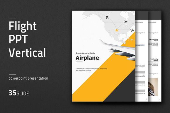 Flight  PPT  Vertical by Good Pello on @creativemarket | Good example of how to make print pieces in PPT