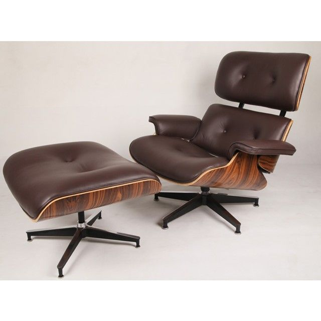 charles eames style rosewood lounge chair and ottoman brown leather replica artis dcor bedroomdivine buy eames style office chairs