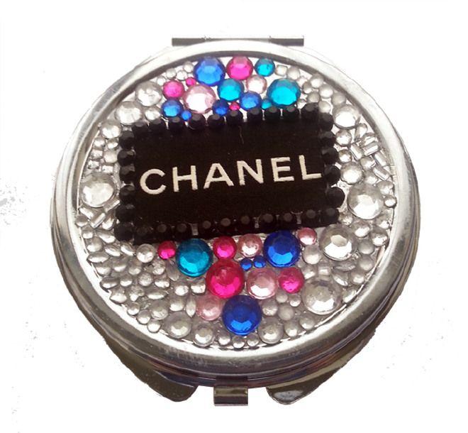 Specchietto da borsetta Chanel style compatto doppio specchio accessori fashion idea regalo ragazza