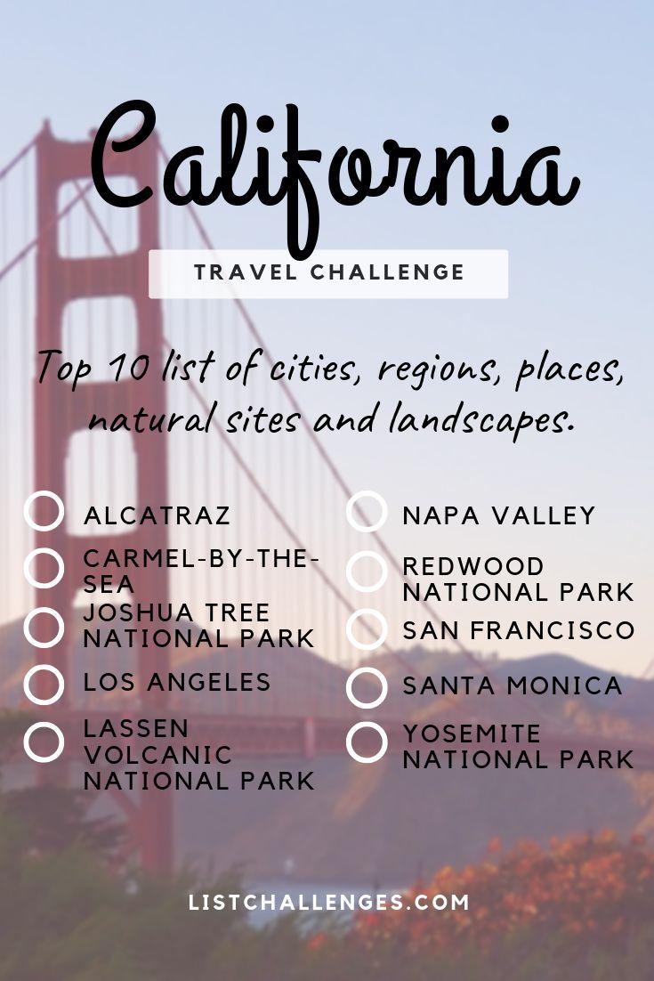 TOP 10 Reiseliste: Kalifornien
