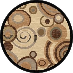 Festival Beige 5 ft. 3 in. Contemporary Round Area Rug