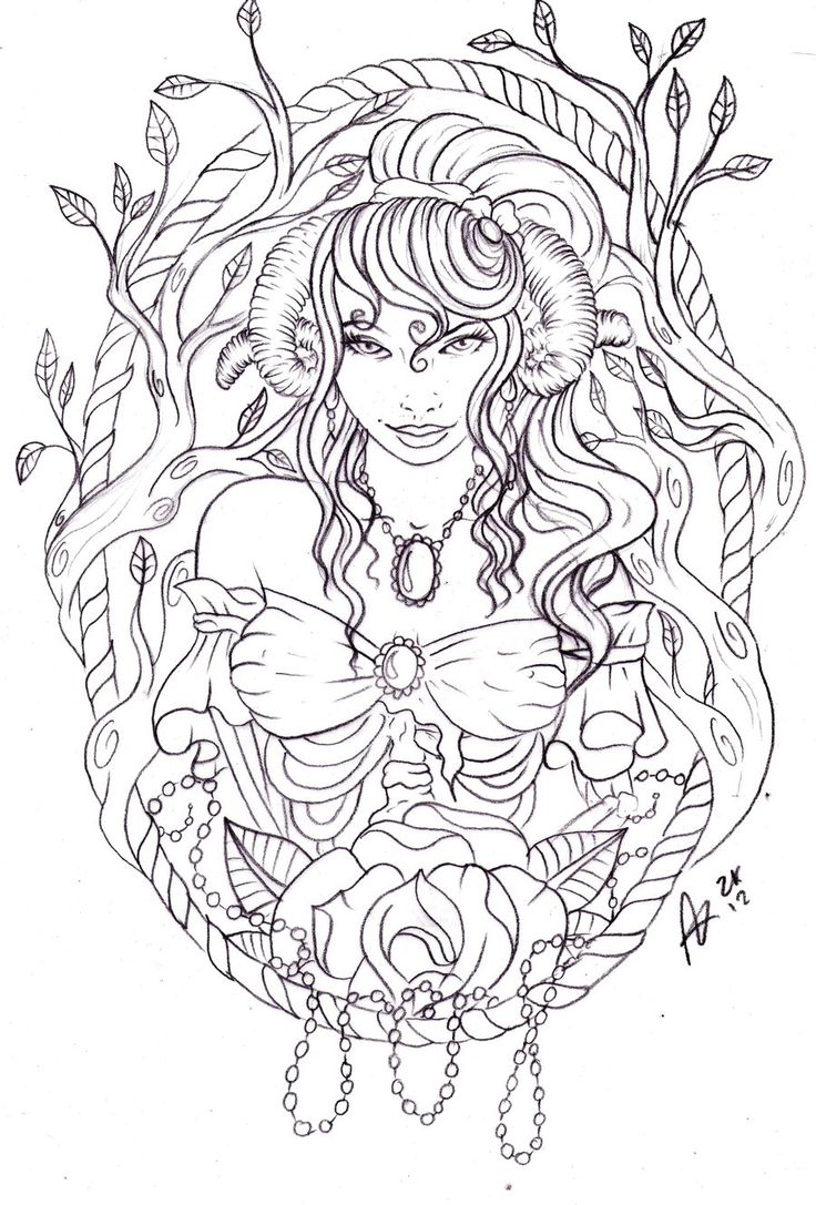 Sw swear word coloring pages etsy - Zombie Ram Woman By Nevermore Ink Deviantart Com On Deviantart