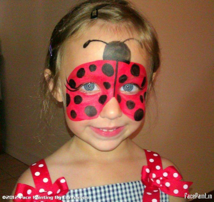 Lovely Ugur Bocegi Yuz Boyama Ornekleri Modelleri Ve Fikirleri Bocegi Boyama Fikirleri Modelleri Ornekler Ladybug Face Paint Girl Face Kids Face Paint