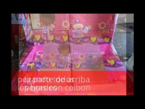 caja decorada y reciclada - YouTube
