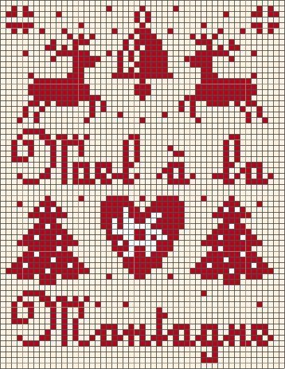 Noël à la montagne (rouge).