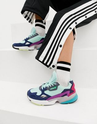 super popular 64573 1132d adidas Originals Falcon Sneaker In Mint Multi