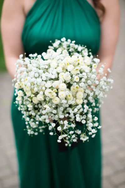 Baby's breath bouquet: http://www.stylemepretty.com/illinois-weddings/chicago/2015/02/06/sophisticated-chicago-wedding-at-the-drake-hotel/ | Photography: MaiCamera - http://www.maicamera.com/