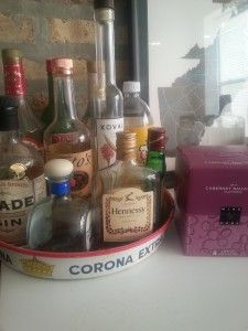 DIY Hotel Mini-Bar. A Lazy and Cheap Valentine's Day: The Faux Hotel Plan. No Bags To Check