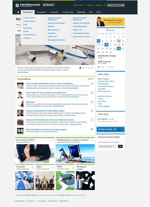 sharepoint intranet concept by joanne ho via behance