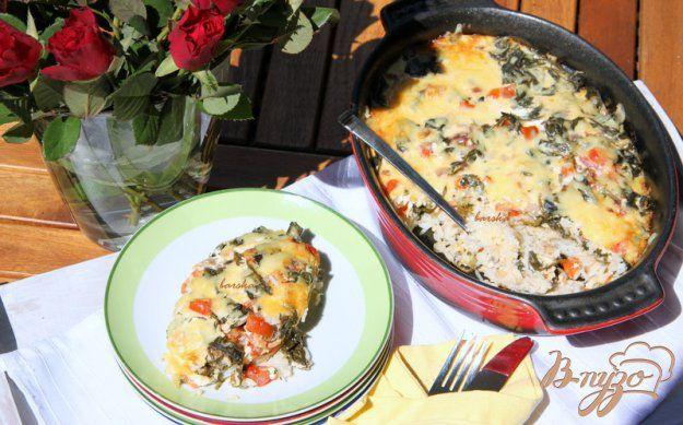 Запеканка-пирог из риса со шпинатом и помидорами - пошаговый рецепт с фото
