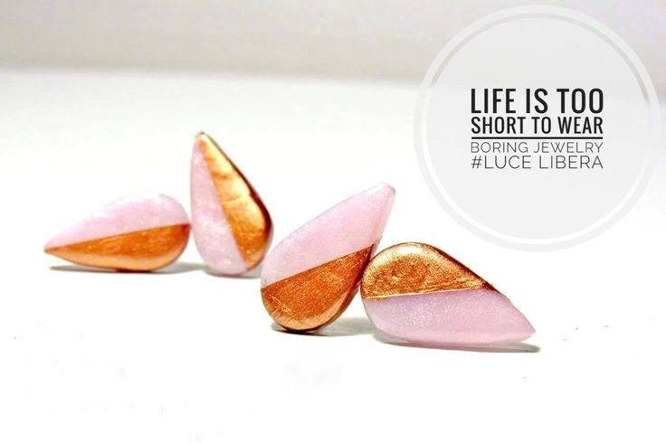 polymer clay earrings #lucelibera #style #quotes #fashion #handmade #lifeistooshort #earrings #jewelry #accessories #liberally #unique #love #passion