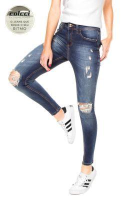 Calça Jeans Colcci Extreme Bia Poído Azul                                                                                                                                                                                 Mais