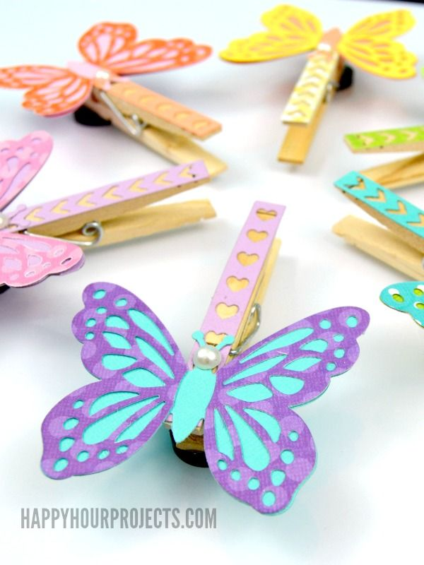 Butterfly Clothespin Magnets