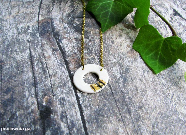 Porcelain pendant , gold , platinum , handmade , #goldplated #porcelainpendant   #ceramicpendant