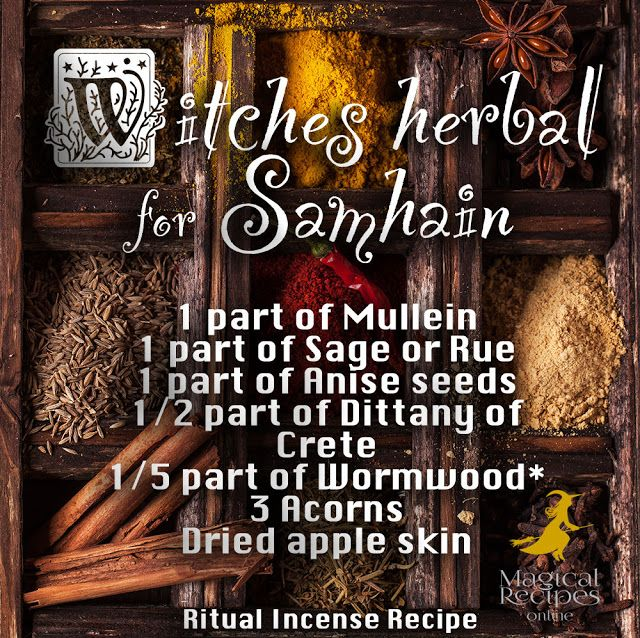 Halloween Magic & Spells: Witches Herbal for Samhain, what herbs to pick for halloween magic sahmain