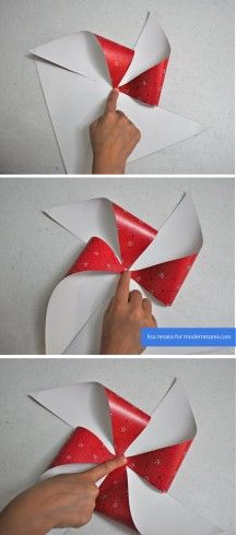 Easy & festive DIY 4th of July Pinwheels on modernmami.com! #FourthofJuly #4thofJuly #kidscrafts